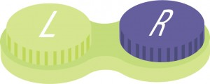 Illustration of contact lens case.